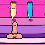 Spuit sperma met pik