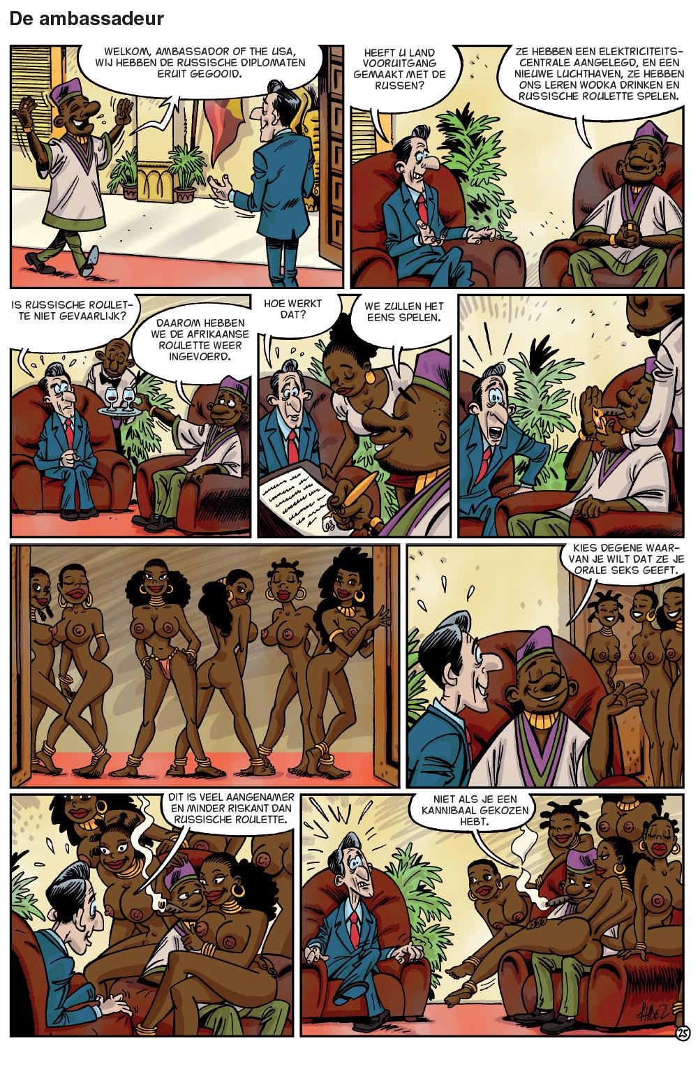 Afrikaanse Sex Cartoon